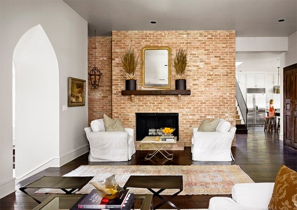 Country Inspired Living Room With Brick Wall U2013 Eclectic Living Room Design  With Deep And Warm Accent Part 68